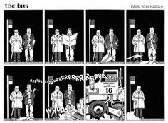'The Twilight Zone' meets M.C. Escher meets Dali in the philosophical comic strip 'the bus' | Dangerous Minds