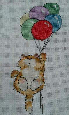 Margaret Sherry Crosstitch Cat design