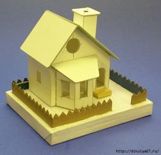 "pdf template for a cardboard ""putz"" house. Great for an adult to build and a kid to decorate! Christmas Village Houses, Putz Houses, Christmas Villages, Fairy Houses, Christmas Home, Christmas Crafts, Xmas, House Template, Modelos 3d"