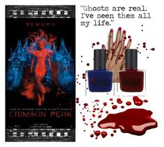 """Beware Crimson Peak"" by nicole-goodwin-bennett ❤ liked on Polyvore featuring beauty, Essie and RGB"
