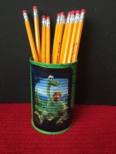 THE GOOD DINOSAUR Can Holder/Pencils/Pens/Brushes/Markers/Crayons/Toys/Money/Candy/Gift Holder by KreationsGalore on Etsy