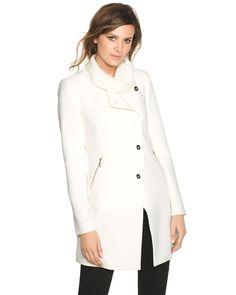 Drape-Front Coat - White House   Black Market