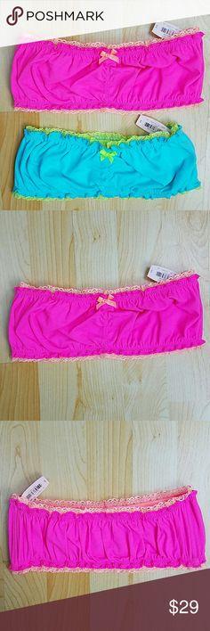 Pink Victoria's Secret bandeau lot NWT Pink Victoria's Secret bandeau lot. Both size small. New with tag. PINK Victoria's Secret Intimates & Sleepwear Bandeaus