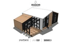 LivingPlus is a range of customizable residential products. Modular and prefab smarthomes that combine design, quality, green building and comfort Modular Housing, Modular Homes, Roof Design, House Design, Container Shop, Prefabricated Houses, Small Buildings, Cottage Design, Facade House