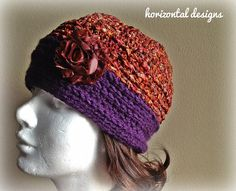 Vineyard Crochet Hat, Vintage Inspired by HorizontalDesigns