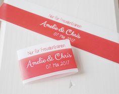 Hochzeitsdeko - 10 DIY Freudentränen - Banderolen ❤️ Intensiv ❤ - ein…