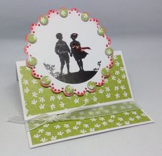 Card created using Silhoutte Circle Toppers and Sew Lovely Paper Pad, by Julie Hickey www.craftworkcards.com