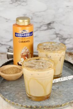 Salted Caramel Mudslide {Easy Recipe} - Miss in the Kitchen Liquor Drinks, Alcoholic Drinks, Alcoholic Milkshake, Milkshakes, Mudslide Recipe, Salted Caramel Milkshake Recipe, Cocktail Desserts, Cocktail Recipes, Cocktail Drinks