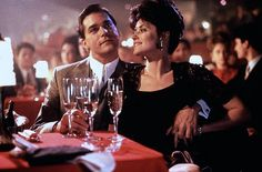 "Goodfellas - right after the scene of them walking through the kitchen into the night club, when she asks him what ""he does"", he replies, ""I'm in construction"" and she touches his hand and says ""It doesn't look like constructions."" ""I'm a union delegate"". Yep -  have seen this just a few times"