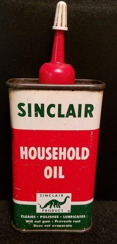 Sinclair Household Oil Tin Can Handy Oiler 4 oz. Pre Zip Code #Sinclair