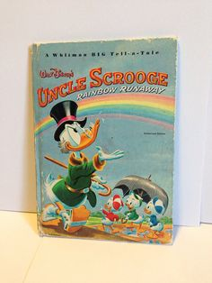 Walt Disney's Uncle Scrooge Rainbow Runaway  Whitman BIG Tell-a-Tale Children's Book  on Etsy, $2.00