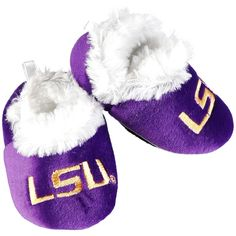 LSU Tigers Infant Baby Bootie Slippers - $6.39