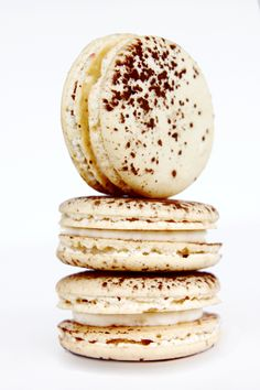 Tiaramisu macaron... I would use a more traditional recipe for the almond cookie part though...