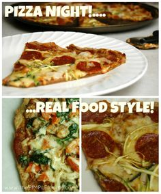 a simple real food recipe :: pizza night!