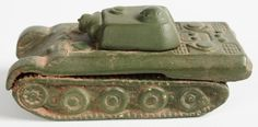 GOEBEL TIGER TANK SAND TABLE MODELS, PANTHER ceramic tanks with rotating turrets