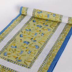 Anchor Your Tablescape In Country Chic Style With This Lovely Cotton  Runner, Featuring An