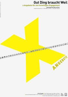 Plakat CARITAS: Ehrenamt/volunteer work © Wundsam Corporate Design, Ehrenamtliches Engagement, Volunteer Work, Grafik Design, Logos, Visual Communication, Typography, Poster, A Logo