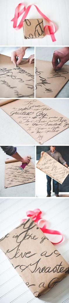 Envoltura de regalo para el día de San Valentin