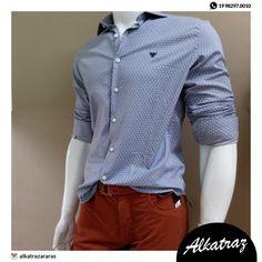 Essa combinação de camisa e bermuda fica super elegante 💙💙 #alkatraz #moda #men #homens #elegância #preçosbaixos