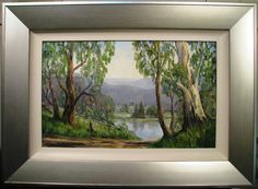 This is an Australian Painting by Ronald Peters it is an original oil titled 'Oberon Scene in November'. Titled and signed again 'Ronald Peters' on the reverse. Ronald Peters MARKINGS: Signed and dated lower right, 'Ronald Australian Painting, New South, South Wales, November, Scene, Oil, November Born, Stage, Butter