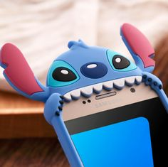 Silicon Cute Stitch Back Shell For Samsung S6 S7 Fashion Lovely Cartoon 3D Shape…