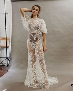 Another little BTS shot from my Constellations collection shoot last week with @florido_weddings and @tracieweaver_makeup @tenikadolores and @andrecois