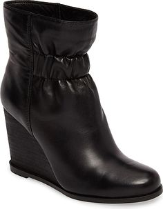 878b2a0640f Splendid Women's Shoes in Black Leather Color. Ruched, covered elastic  gathers the shaft of