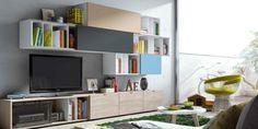 meuble de télé créatif Elsie De Wolfe, Deco Tv, Tv Stand Decor, Living Room Tv, Design Moderne, Bookcase, Interior Decorating, Sweet Home, Shelves