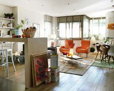 Open Floor Apartment KItchen And Living Room Remodeling In Madrid By BITBIT