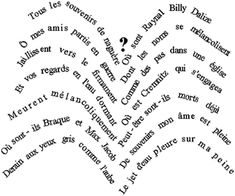 Ecole de BOUST - Les calligrammes des CM1