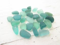 Bulk Lot of 25 Tiny  // OCEAN GREEN MIX // Genuine SeaGlass by GitanaDeLaPlaya, $6.99