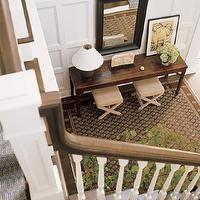 entrances/foyers - wainscoting, full wall wainscoting, floor to ceiling wainscoting, 2 story foyer,  Beach Style Foyer from ElleDecor