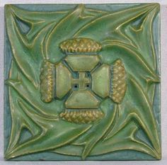 回 Tile o Phile 回   Thistle Arts and Crafts Tile Rookwood