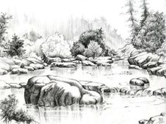 1000  Ideas About Pencil Sketches Of Nature On Pinterest Pencil - 600x448 - jpeg