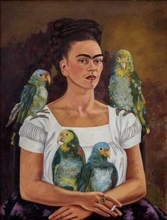 frida kahlo paintings Frida Kahlo, Me and My Parrots 2019 Banco de Mxico Diego Rivera Frida Kahlo Museums Trust, Mexico, Rights Society (ARS), New York. Diego Rivera Frida Kahlo, Frida And Diego, San Diego, A4 Poster, Poster Prints, Fridah Kahlo, Frida Kahlo Portraits, Frida Kahlo Artwork, Tomie Ohtake