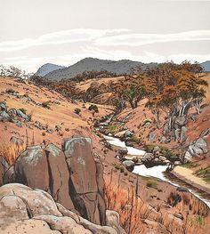 Prints & Graphics - David George Rose - Page 3 - Australian Art Auction Records National Art School, David Rose, Australian Art, Art Auction, Screen Printing, Landscapes, Drawings, Artist, Prints