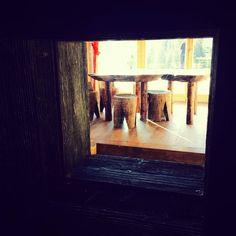 ....small window in the izba wall