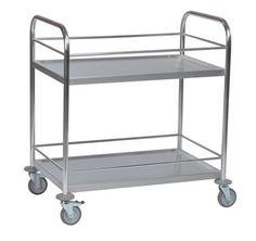GTARDO.DE:  Tischwagen umlaufendem Geländer, Tragkraft 100 kg, Maße 910x590 mm 224,00 €