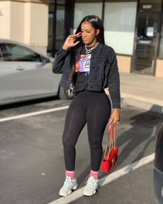 baddie outfits for school Cute Swag Outfits, Chill Outfits, Dope Outfits, Trendy Outfits, Fashion Outfits, Black Girls Outfits, Fashion Trends, Fall Winter Outfits, Summer Outfits