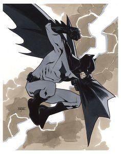 Bendis: Batman - Germany Tour 2014 Pre-Show Commmission   Mahmud Asrar