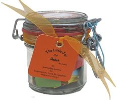 A Month of Success & Inspiration quotations in a jar. The Perfect Inspirational Gift for the loved ones in your life especially for Birthdays, Graduation and other special holidays - Good Luck wishes for exams. Each jar contains 31 Multi-coloured Quotes