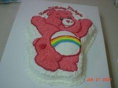 """Cheer Bear Care Bear"" birthday cake"
