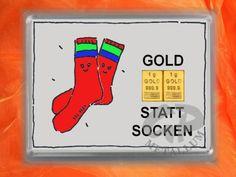 2 x 1 g Goldbarren in Motivbox Gold statt Socken mit Zertifikat - die Geschenkalternative zu Socken...... :-))