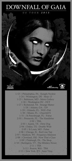 Downfall of Gaia US tour presented by HeavyBlogisHeavy.com announced for 2015! - http://bit.ly/1rSHFWT