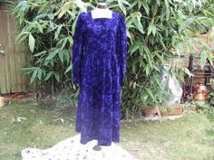 Vintage 1980s Purple Corduroy Dress with by Petticoatjanevintage, £20.00