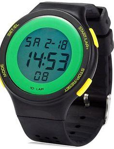 SKLIT Sports LED-Uhr mit Alarm datum Stoppuhrfunktion - http://uhr.haus/sklit-watches/sklit-sports-led-uhr-mit-alarm-datum