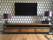 Vintage Industrial Contemporary Style Sideboard with Mild Steel Metal frame