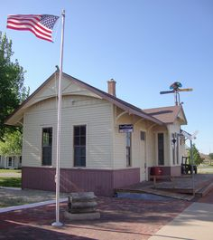 Old Rock Island Railroad Depot (Inman, Kansas) by courthouselover, via Flickr