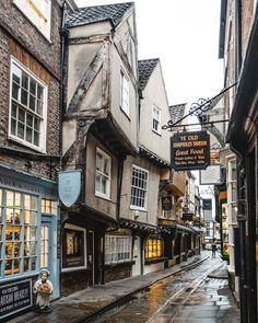 What to see, where to eat and what to do in one of the prettiest cities in England. York Uk, York England, Beautiful Buildings, Beautiful Places, Places To Travel, Places To See, Storefront Signs, City Aesthetic, Train Travel