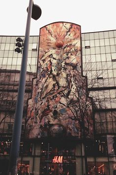 Europe's largest mural mosaic is located above an H&M store in Vienna on Mariahilfer Straße. Designed by Christian Ludwig Attersee for the Atterseehaus. Ludwig, Vienna, Mosaic, Scenery, Christian, Design, Art, Kunst, Art Background